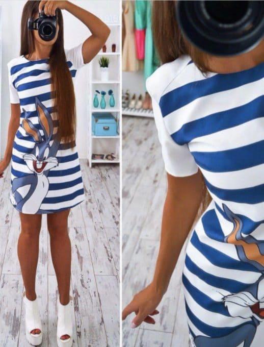 Сладка дамска рокличка Бъни-код 775-255