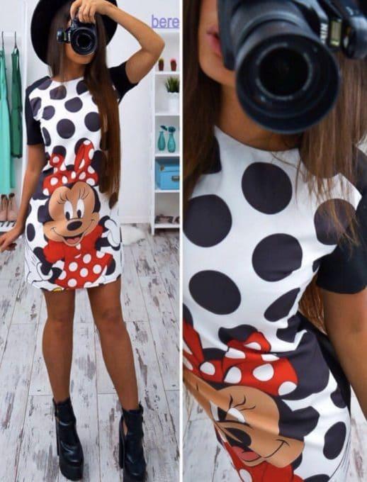 Сладка дамска рокличка Мики-код 775-255-1