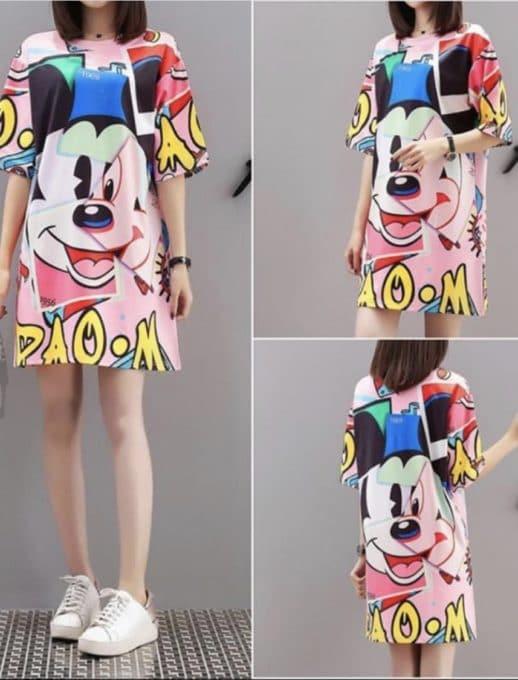 Рокля рокля анимационен принт Код 788-4