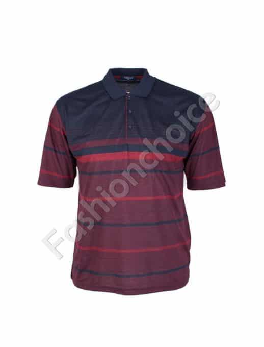 Мъжка макси блуза с якичка/3XL,4XL,5XL,6XL/-код 732-8307