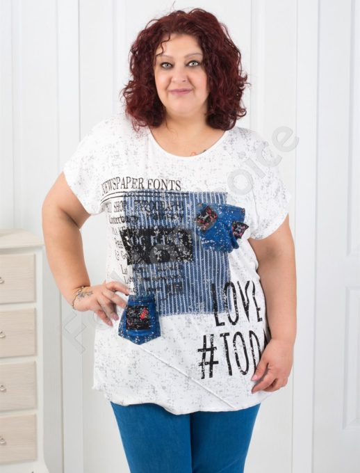 Свежа макси блузка с интересен десен-код 0609
