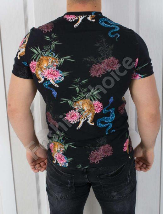 Мъжка тениска TIGER в черно-код 542-5208