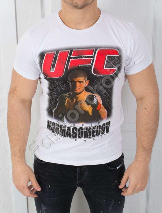 Спортна мъжка тениска в бяло-код 784-2-1