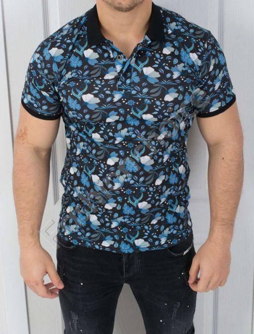 Мъжка блуза с цветен десен-код 783-1