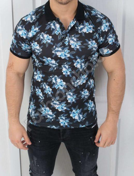 Мъжка блуза с цветен десен-код 783-2