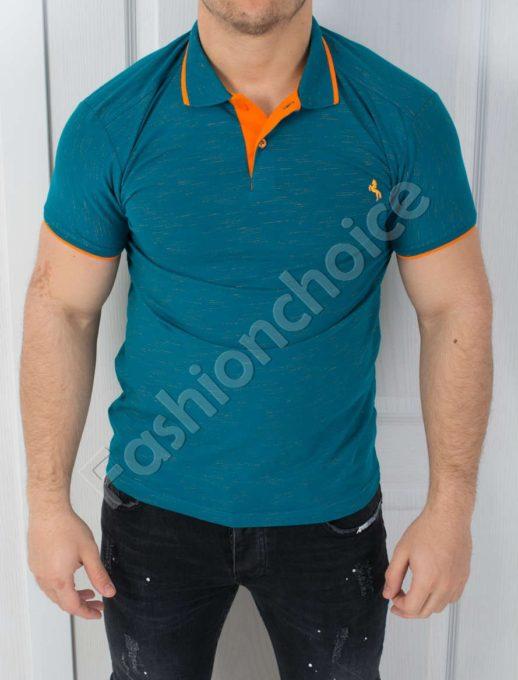 Мъжка тениска с якичка в четири интересни цвята-код 783