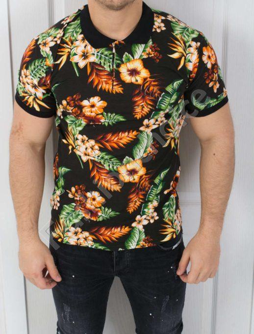 Цветна мъжка блуза с якичка-код 783-3