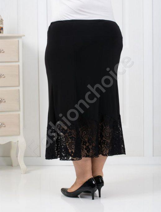 Стилна дълга макси пола с дантела-код 009-2
