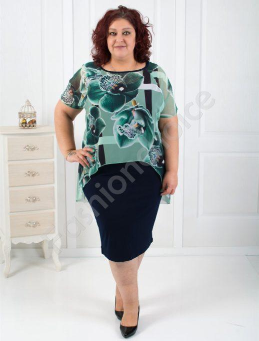 Нежна макси рокля в три красиви десена-код 515-4044