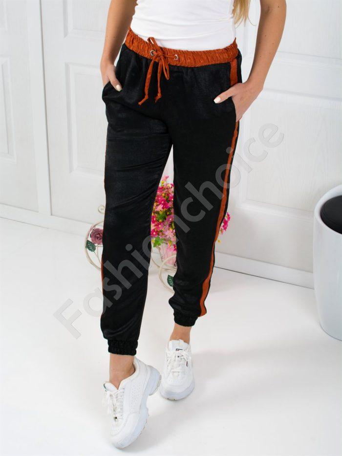 Дамски панталон от сатен с кант-код 804