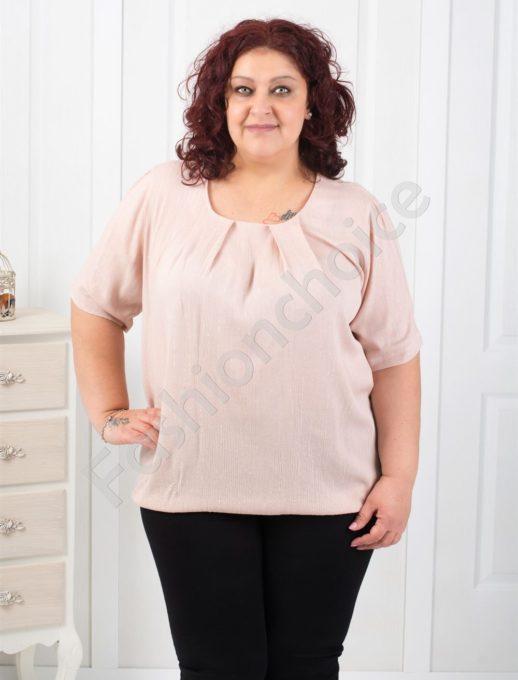 Нежна едноцветна макси блуза в два цвята-код 6008