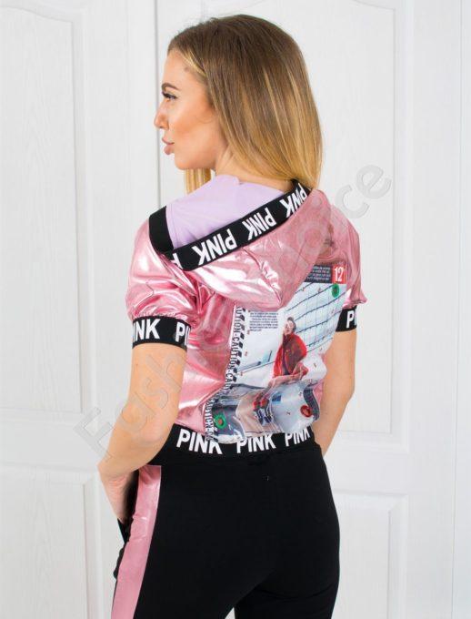 Дамски екип PINK с промазка в розово-код 818