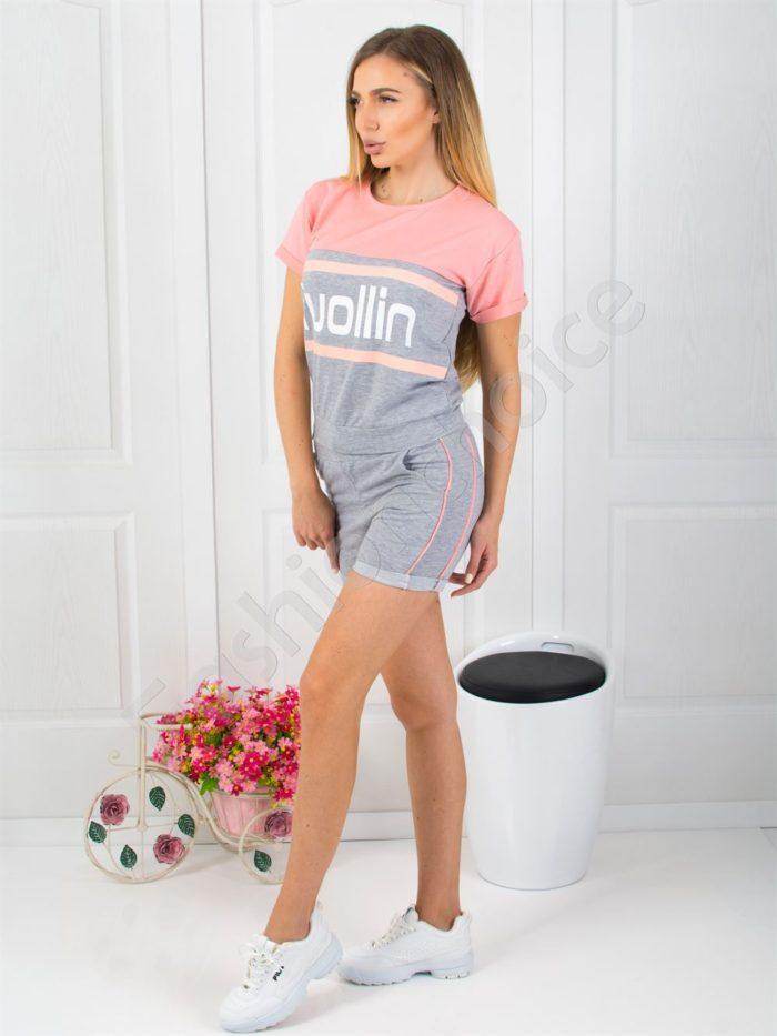 Дамски спортен екип с къси панталонки-код 925-3