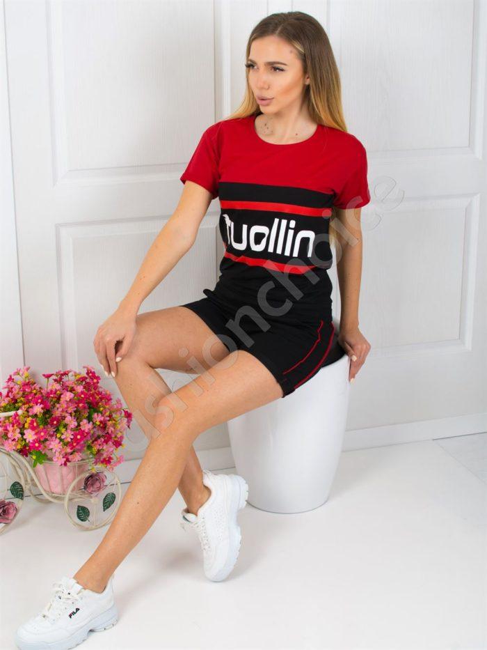 Дамски спортен екип с къси панталонки-код 925