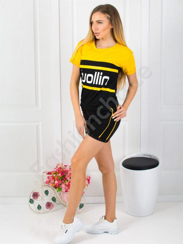 Дамски спортен екип с къси панталонки-код 925-1