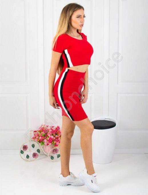 Комплект топ и пола в червено-код 827-1