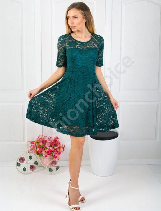 Очарователна дантелена рокля в два цвята-код 1916