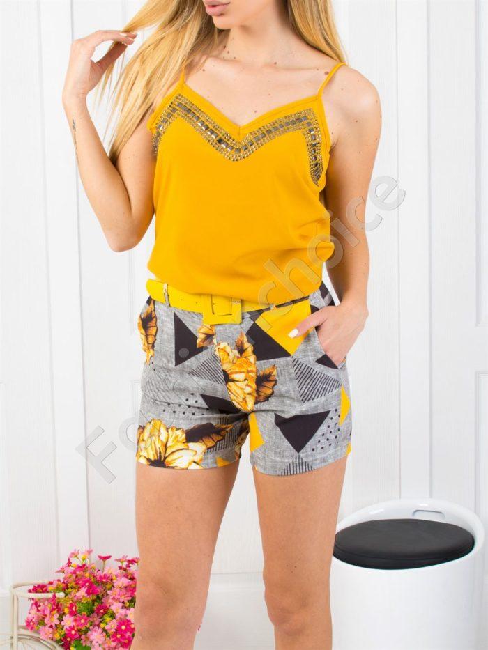 Дамски сет потник с къси панталонки-код 300