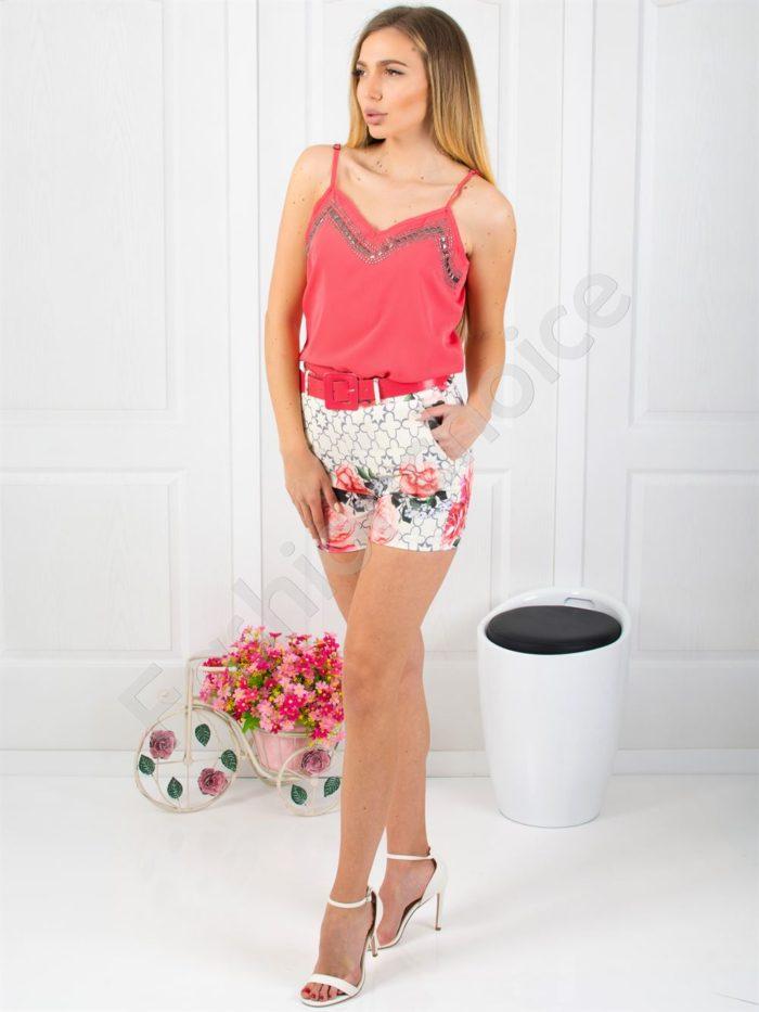 Дамски сет потник с къси панталонки-код 300-1