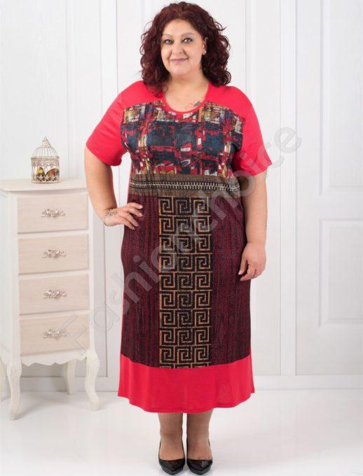 Шикозна макси рокля с мотиви тип Версаче/4 цвята/-код 14980