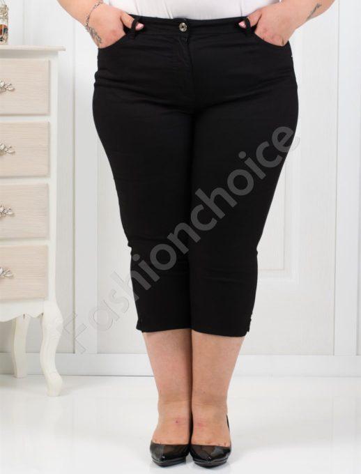 Чудесен тънък 7/8 панталон в черно/52-60/-код 838