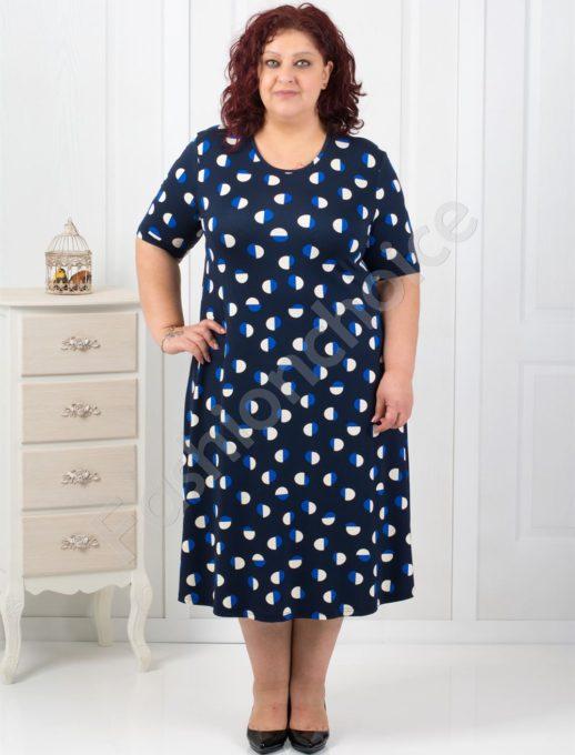 Прекрасна макси рокля на разноцветни точки-код 7128