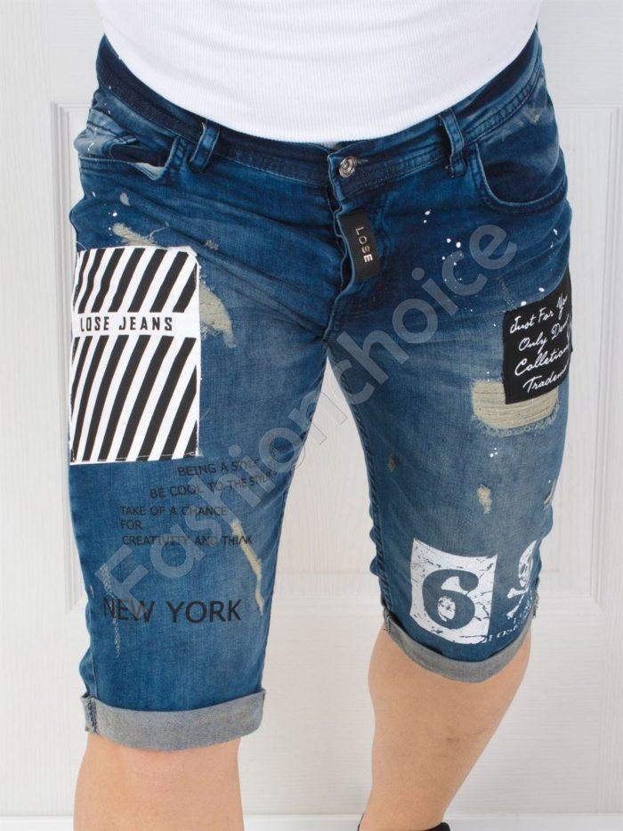 Модерни мъжки накъсани дънки NEW YORK-код 124-3