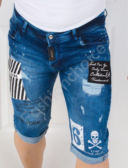 Модерни мъжки накъсани дънки NEW YORK-код 127-1