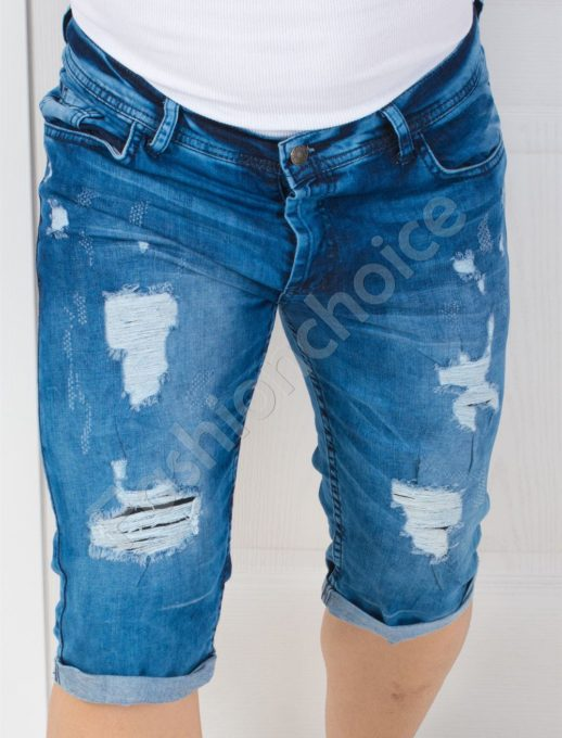 Мъжки дънкови панталонки в светъл деним-код 137-5