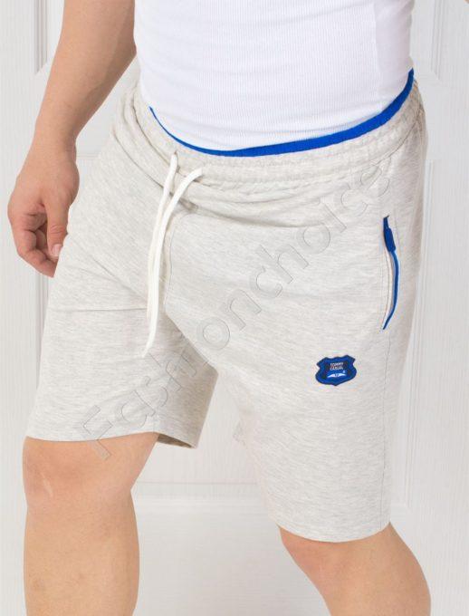 Мъжки панталонки с джобчета и надпис-код 845-1