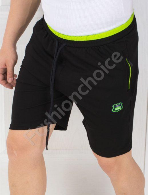 Мъжки панталонки с джобчета в черно-код 845-3