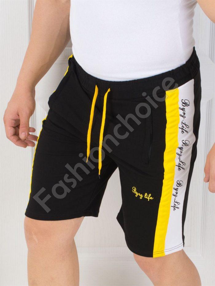 Къси мъжки панталонки с двуцветен кант-код 3004