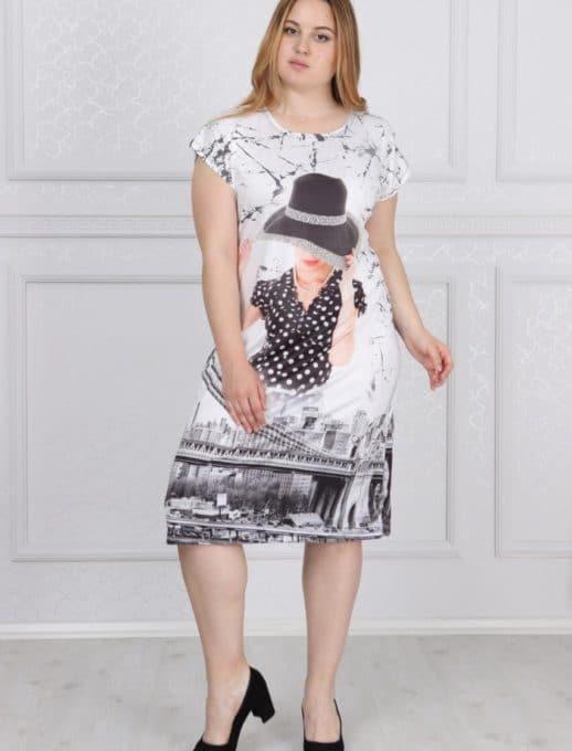Интересна дамска макси рокля /2XL,3XL,4XL/-код 741-10