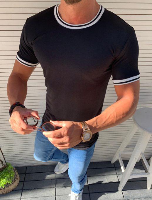 Изчистена мъжка тениска с обло деколте в четири цвята-код 855