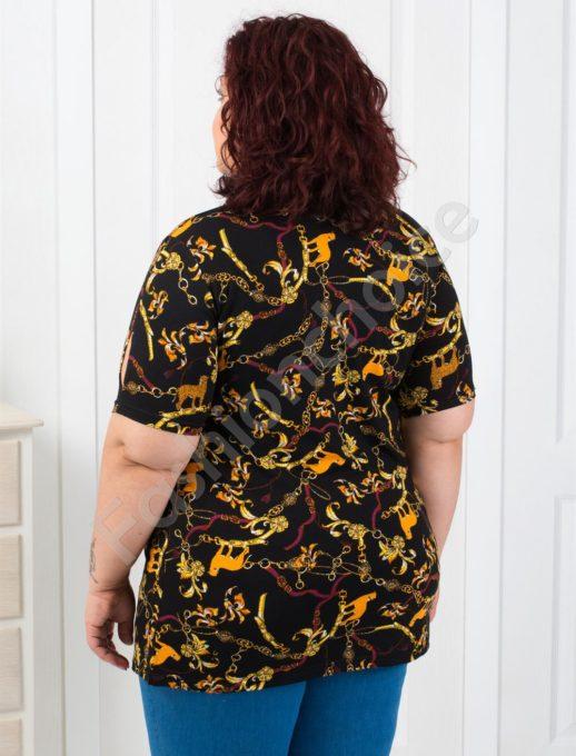 Макси блуза с интересни абстрактни орнаменти