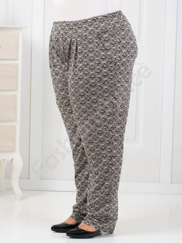 Елегантен дамски макси тънък панталон /4XL, 5XL,6XL/-код 7046-1