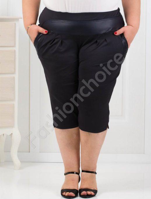 Комфортен макси 3/4 панталон в тъмносиньо-код 193