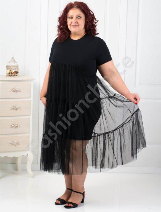 Екстравагантна дамска макси рокля от тюл-код 549