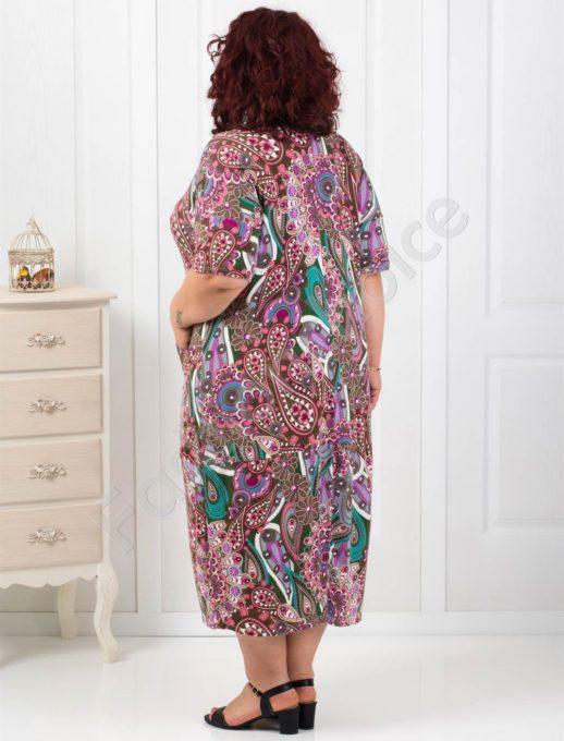 Комфортна макси рокля с абстрактни фигури
