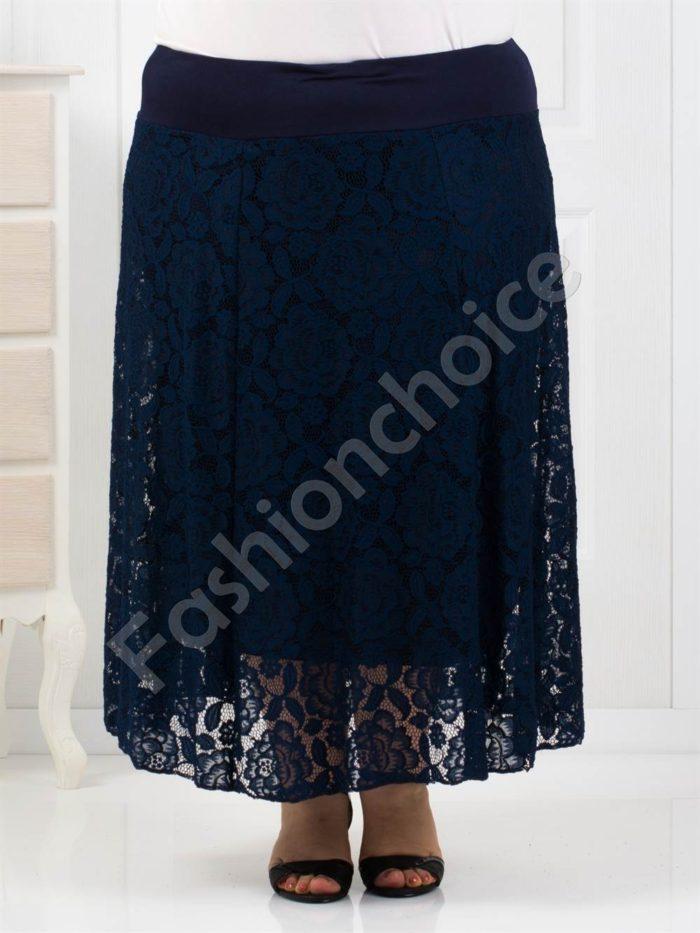 Елегантна дълга макси пола с дантела/4 цвята/-код 546