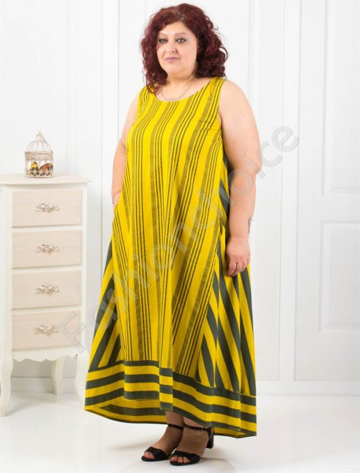 Дълга макси рокля в четири прекрасни летни десена