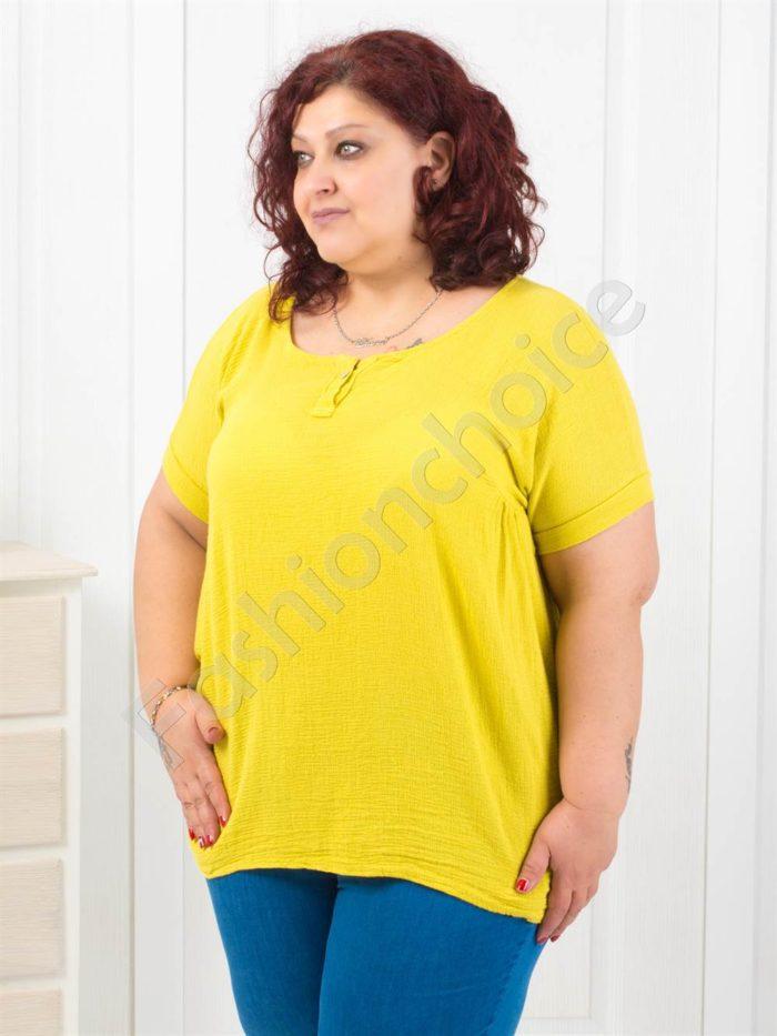 Комфортна макси блузка в четири летни цвята