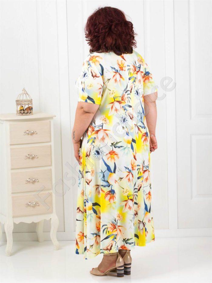 Елегантна дълга макси рокля в летен нюанс