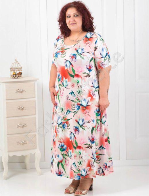 Елегантна дълга рокля в красив летен нюанс
