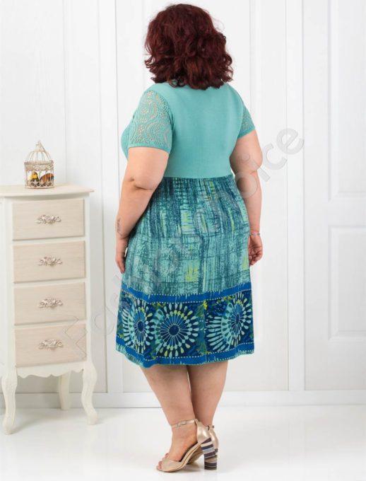 Лятна рокля с дантела и абстрактни фигури