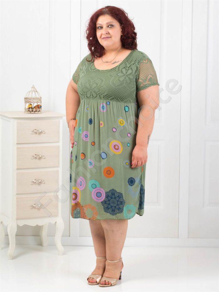 Дамска рокля в четири свежи десена