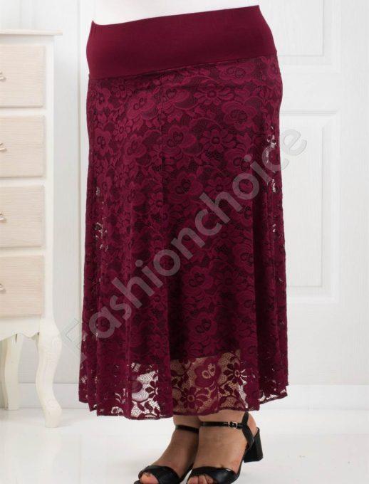 Елегантна дълга макси пола от красива нежна дантела-код 194