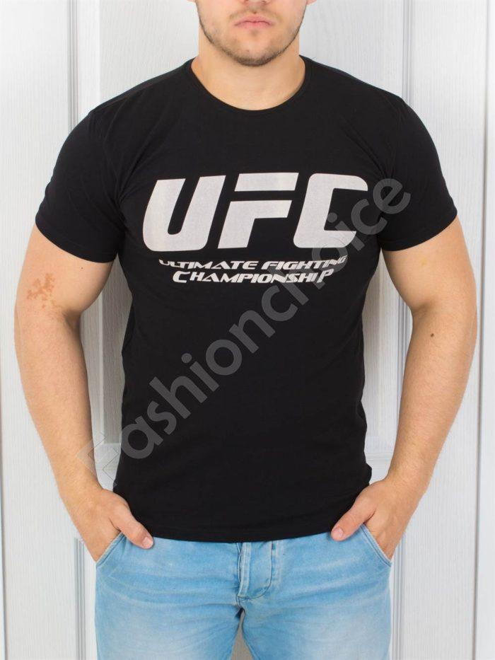 Спортна мъжка тениска в черно-код 872-1