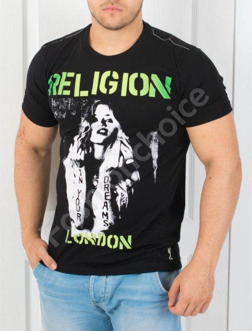 Мъжка тениска с надпис RELIGION-код 852