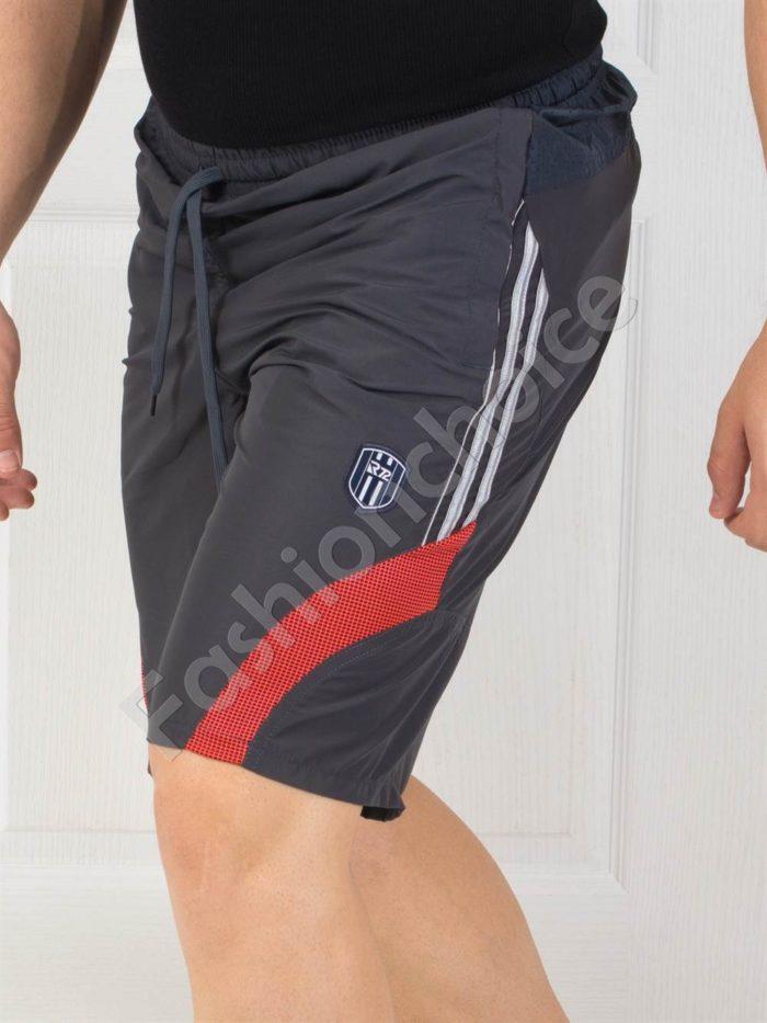 Мъжки панталонки с кант в тъмносиво- код 140-3
